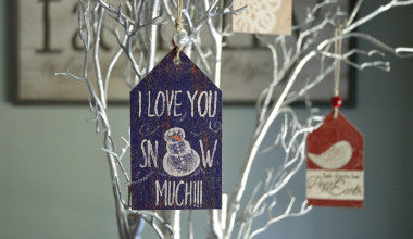 I Love you Snow Much Gift Tag Ornament