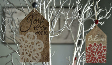 Joy to the World Gift Tag Ornament