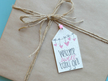 Welcome Sweet Baby Gift Tag