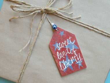 Sweet Land of Liberty Gift Tag