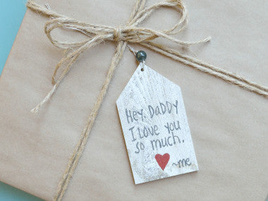 Daddy I Love You Gift Tag