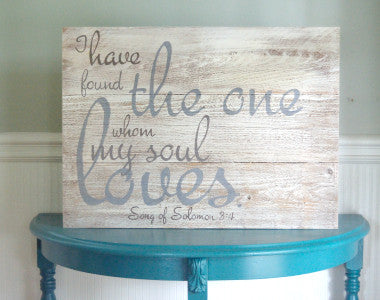 The One - Song of Solomon Scripture Wood Art