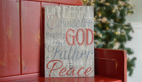 Wonderful Counselor Scripture Wood Art