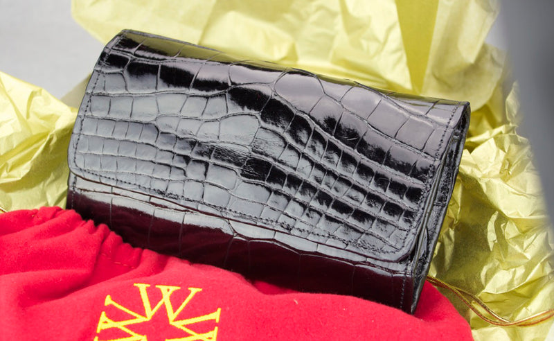 Black Alligator Women's Clutch Wallet