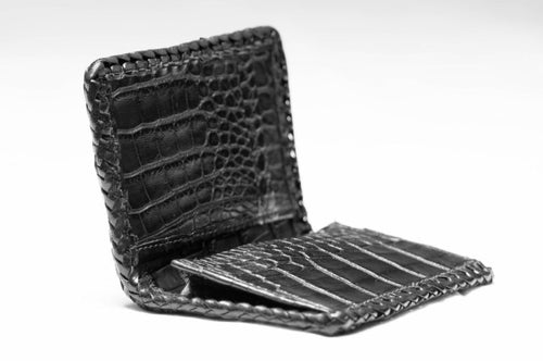 Front Pocket Braided Hornback Alligator Wallet