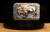 "Bohlin ""Bison"" Silver and Two Tone Gold Buckle"
