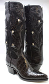 """ELDORADO"" American Alligator Boots with Diamonds and Sapphires"