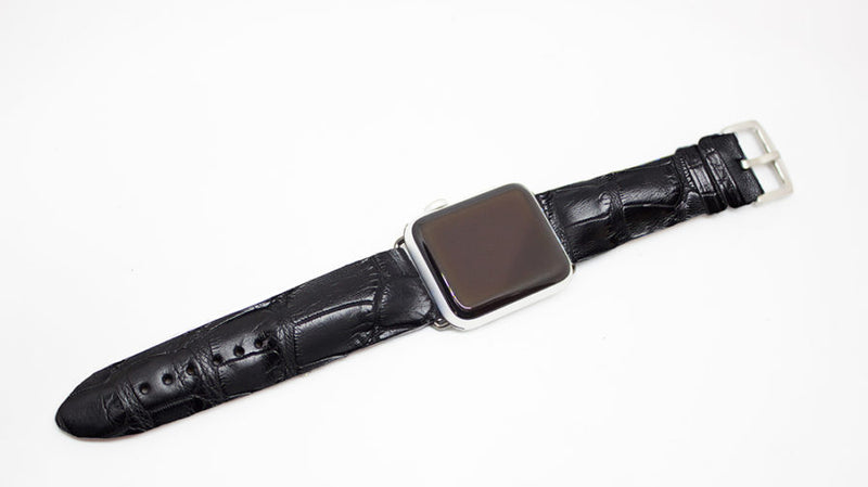 Black Matte Alligator Watch Strap
