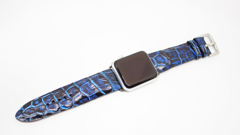 Black Turquoise Alligator Apple Watch Strap