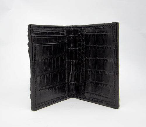 Front pocket Black Hornback Full Alligator Wallet