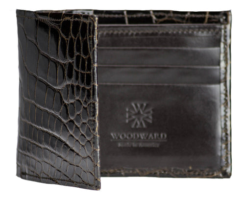 "Chocolate ""Classic Billfold"" Alligator Wallet"