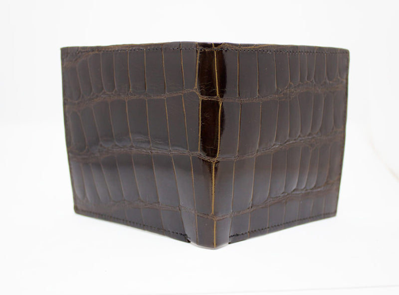 "Brown Glazed ""Chairman"" Alligator Wallet"