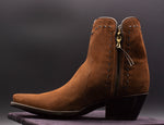 Chocolate Suede Shorty Boots
