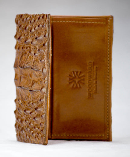 Front pocket Cognac Hornback Alligator Wallet