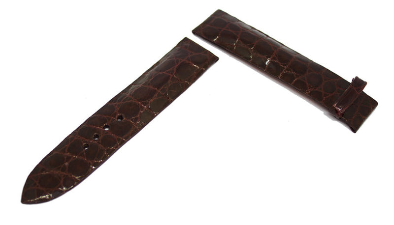 Chocolate Optimal Cut Alligator Watch Strap