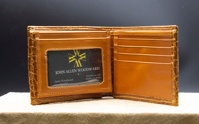 Alligator Tri-Fold wallet with ID Window