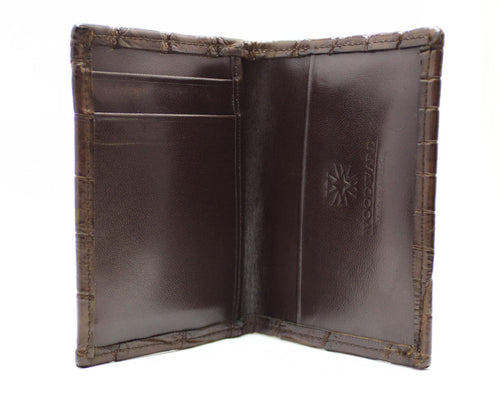 Brown Alligator Money Clip Credit Card Holder Wallet