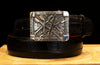 "Clint Orms ""Broken Arrow"" Sterling Silver Buckle"