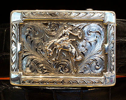 "Clint Orms ""Sterling Bronc"" Sterling Silver Buckle"