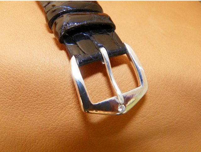 White gold / Diamond Watchstrap Buckle