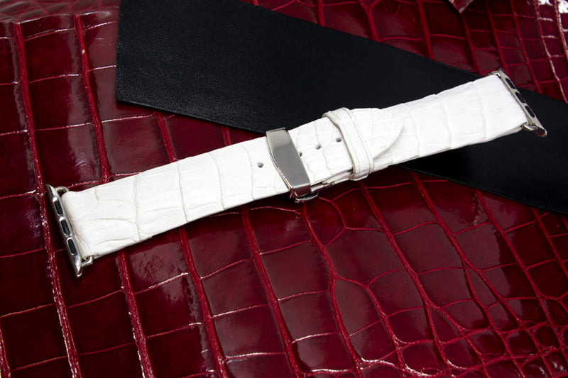 White Alligator Watch Strap