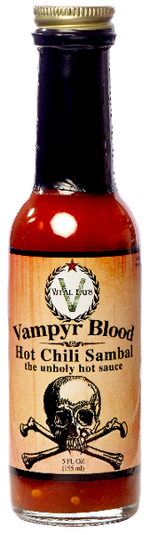 Vampyr Blood Hot Sauce - Chili Sambal 5 oz.