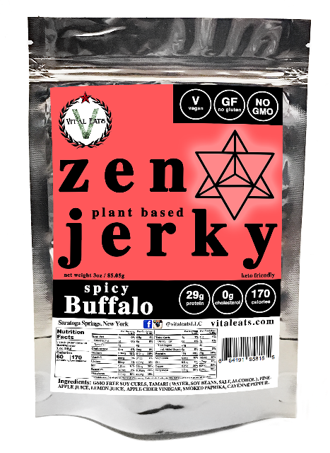 ZEN JERKY - Hot Ranch Buffalo Plant-Based Jerky