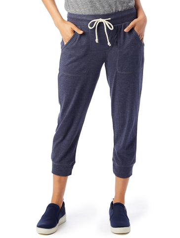 Cropped Joggers women's navy