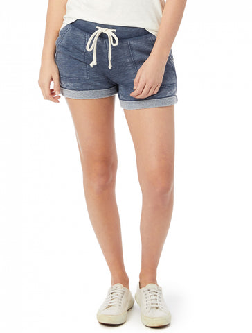 Lounge French Terry Burnout Shorts women's blue
