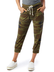 Cropped Lightweight Women's Camo Joggers