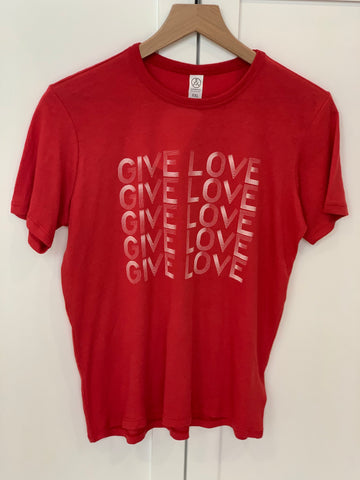 Give Love - Youth Unisex T-Shirt red