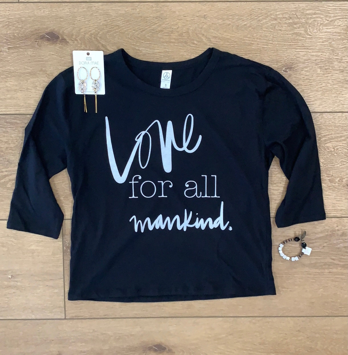 Love For All Mankind 3/4 length women's tee