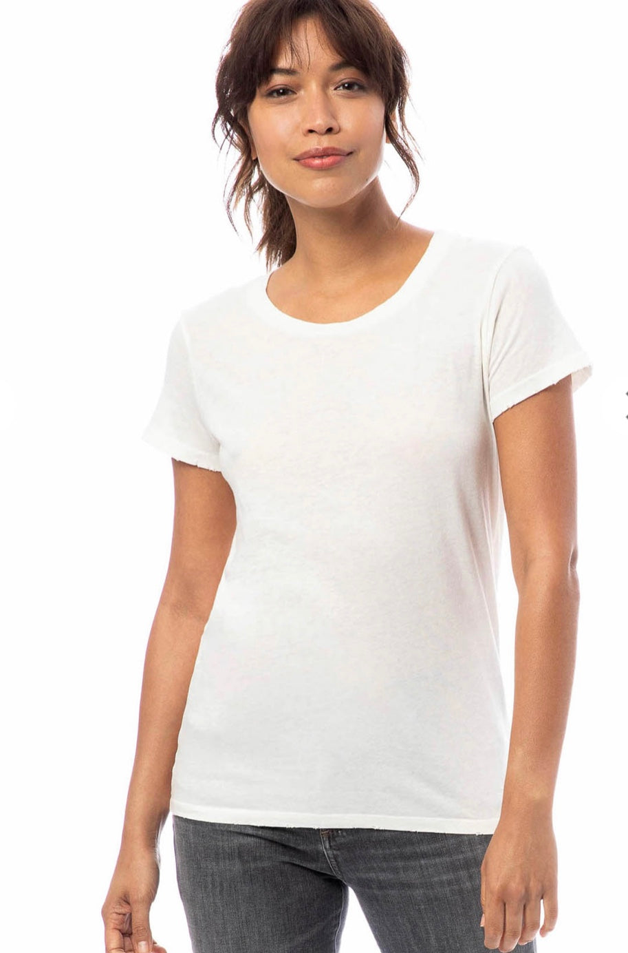 MTG Basics - Distressed Women's White T-Shirt
