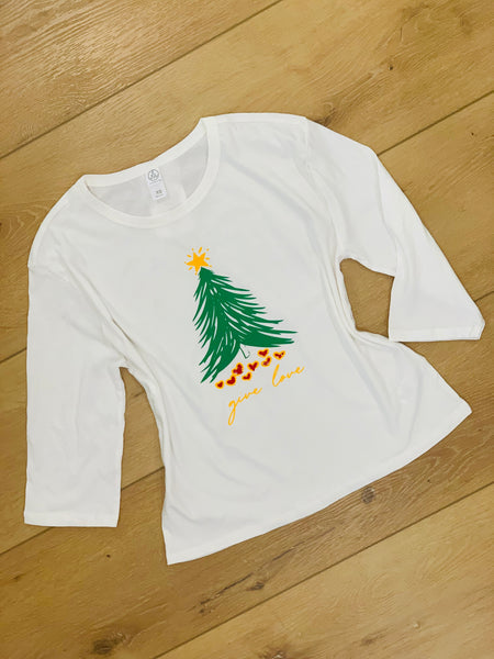 Give Love Tree 3/4 Sleeve T-shirt