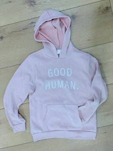 Good Human youth pullover hoodie pink