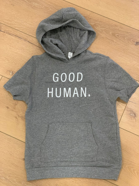 Good Human gray fleece youth pullover