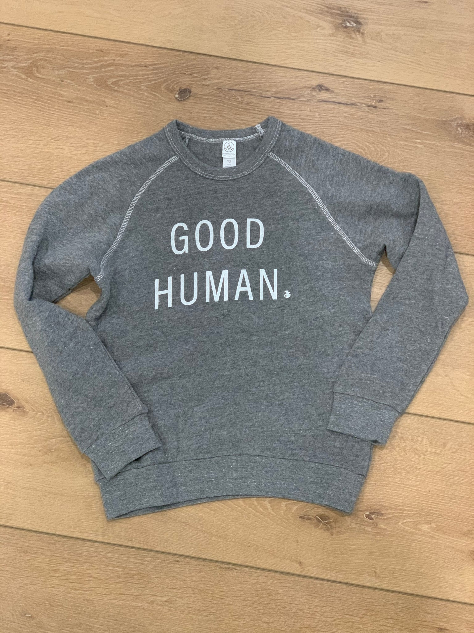 GOOD HUMAN youth pullover gray