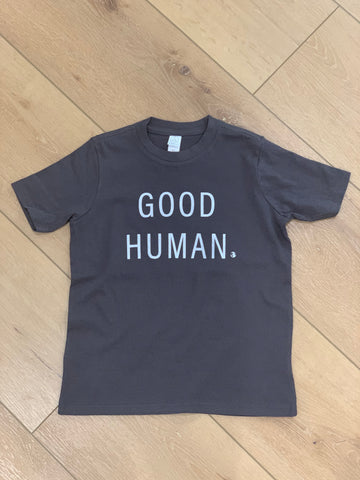 GOOD HUMAN youth t-shirt dark gray