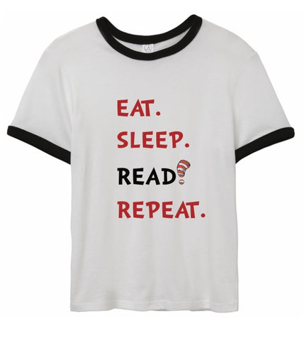 Eat Sleep Read Repeat unisex t-shirt (youth & adult)
