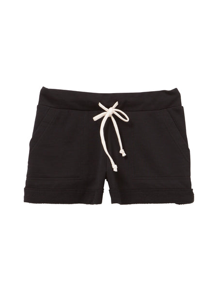 Lounge French Terry Burnout Shorts women's black