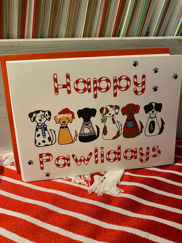 Happy Pawlidays Christmas Cards (Pack of 10)