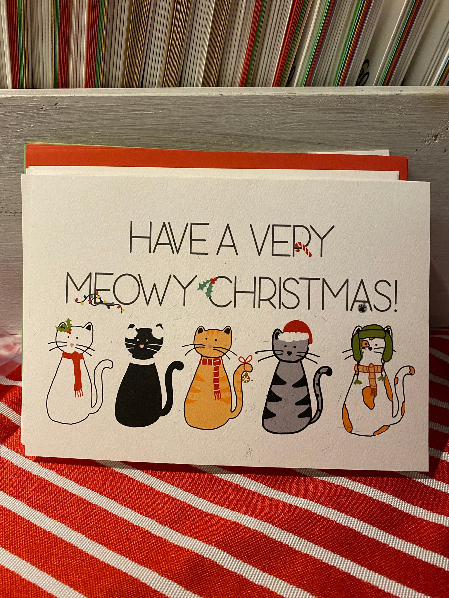 Meowy Christmas Cards (Pack of 10)