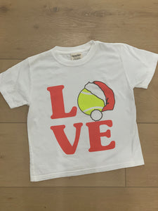 LOVE Tennis w/ Santa hat youth t-shirt