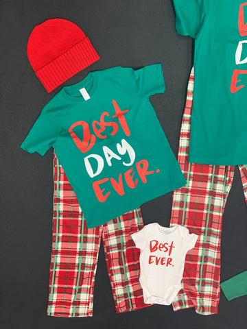 Best Day Ever Christmas Pajamas - Youth