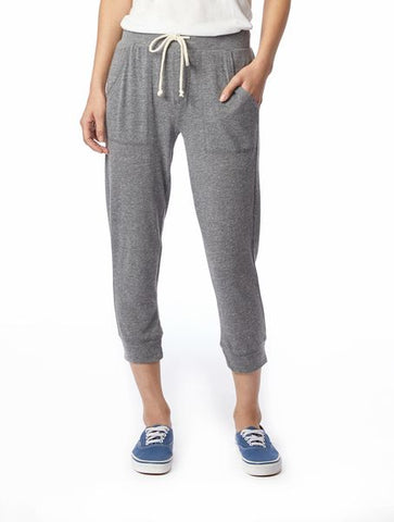 Cropped Joggers gray women's