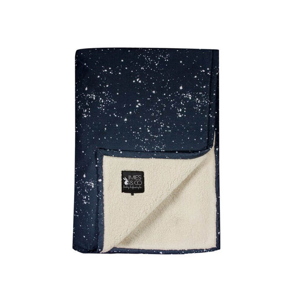 Soft Teddy Blanket Galaxy blue