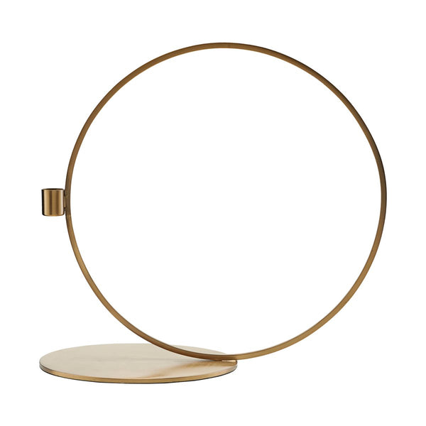 Candle Stand Cirque Brass