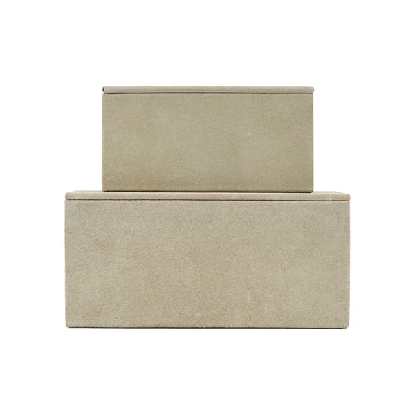 Storage Set Suede Grey