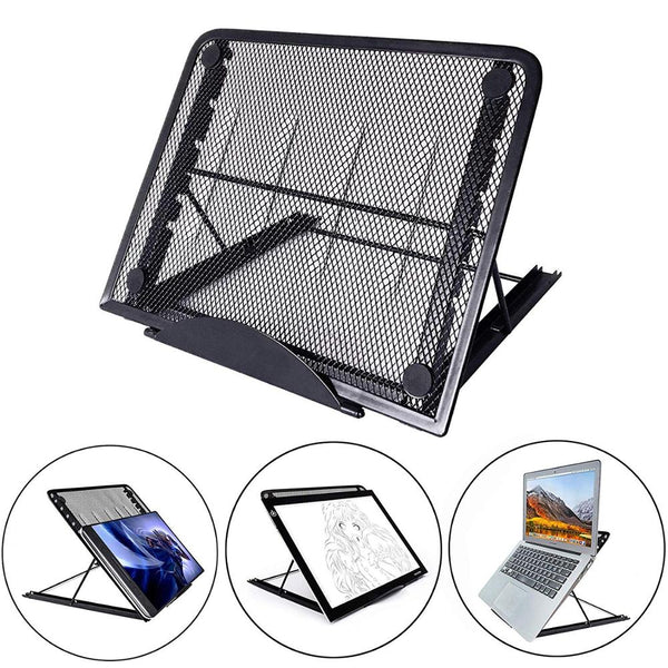 Mesh Ventilated Adjustable Laptop Stand Portable Folding Light Box Laptop Pad Stand