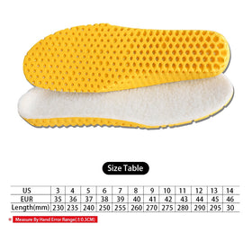 Heated Insole Cashmere Thermal Thicken Soft Breathable